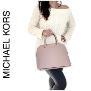 NWT authentic MK Leather Cindy dome satchel fawn